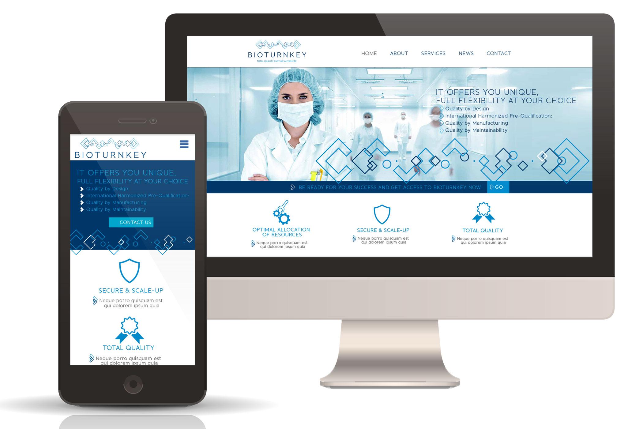 webdesign et développement du site BioTurnKey