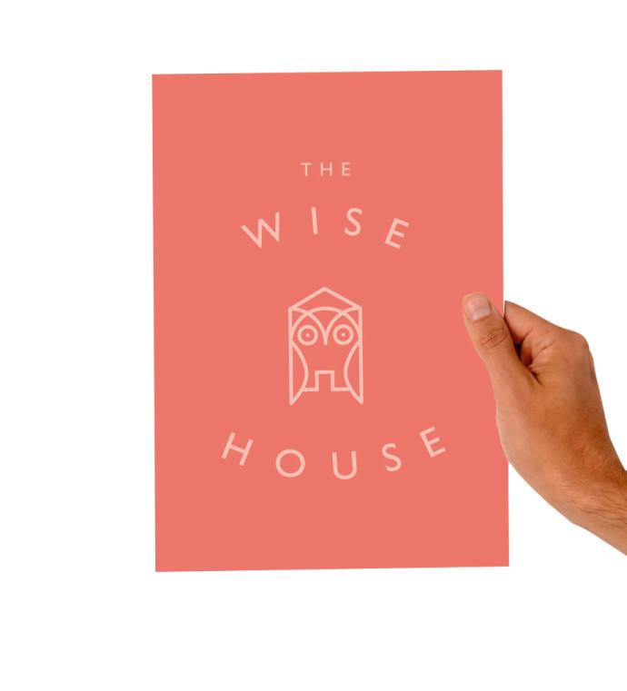 The Wise House Hotel Hastière logo branding identité visuelle