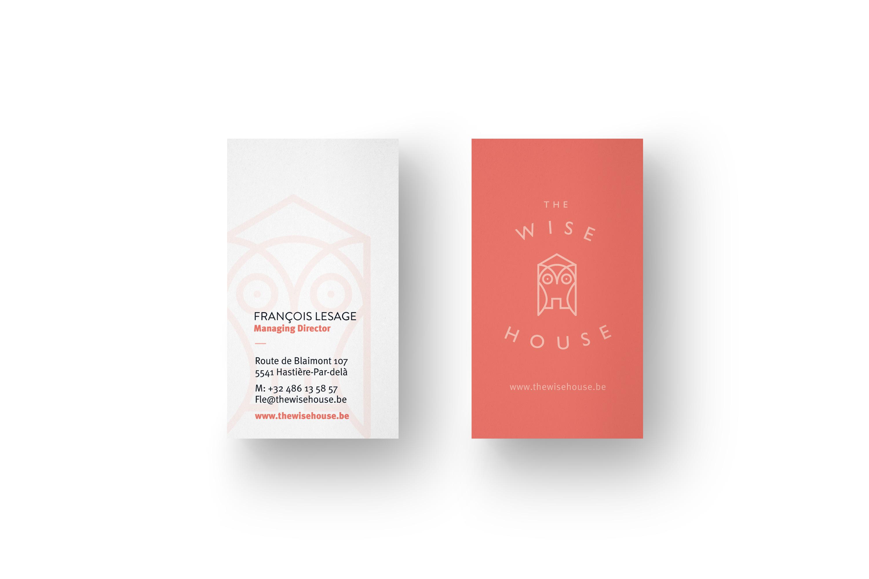 The Wise House Hotel carte de visite identitéb visuelle